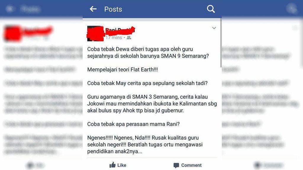 Heboh SMA di Semarang Ajarkan Bumi Datar, Ternyata Salah Paham
