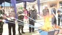 597 Ribu Rokok Ilegal Dimusnahkan di Lhokseumawe