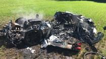 Ferrari Hancur dalam Kecelakaan, Satu Jam Setelah Dibeli