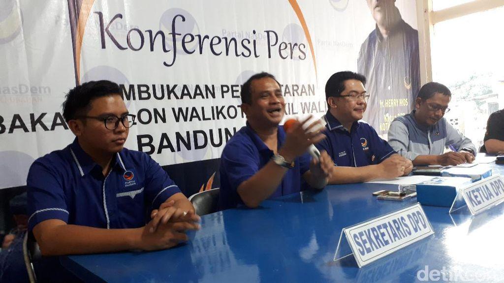 Buka Penjaringan Cawalkot Bandung, NasDem Tak Pungut Mahar