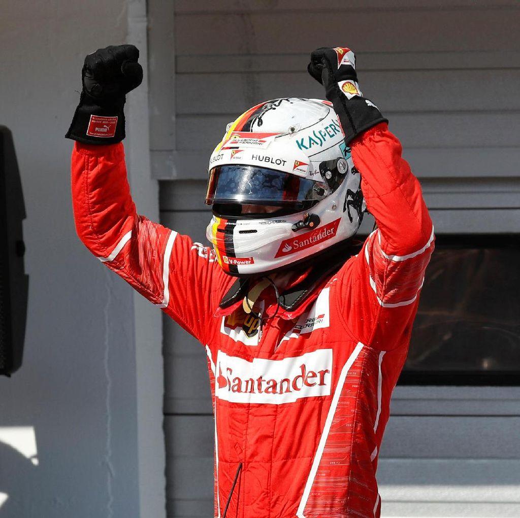 Menang di Hungaroring, Vettel Jauhi Hamilton