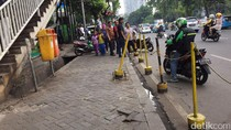 Dishub Jaring 240 Kendaraan di Hari Pertama Bulan Tertib Trotoar