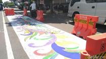 Giliran Jalanan di Situbondo Dicat Motif Batik