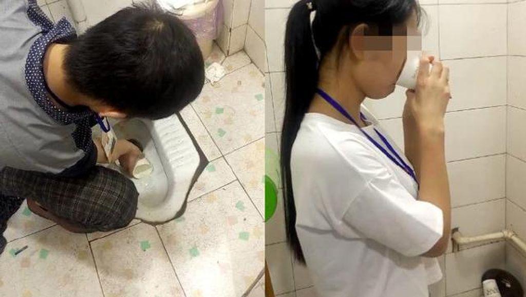 Viral, Karyawan Dihukum Minum Air Toilet Karena Tak Capai Target