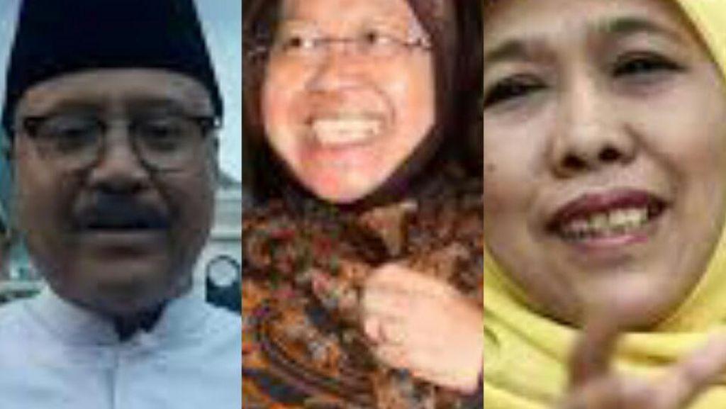 Survei Charta Politika: Gus Ipul, Risma, dan Khofifah Terkuat di Jatim