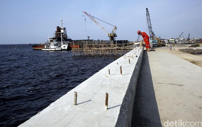 Foto: Begini Tanggul Laut yang Dibangun untuk Halau Banjir Rob