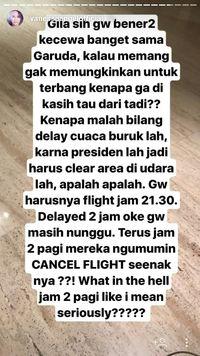 Disoal Vanessa Angel, Garuda Delay karena Masalah Teknis