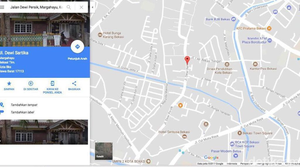 Jalan Dewi Sartika Jadi Dewi Persik, Ini Penjelasan Google
