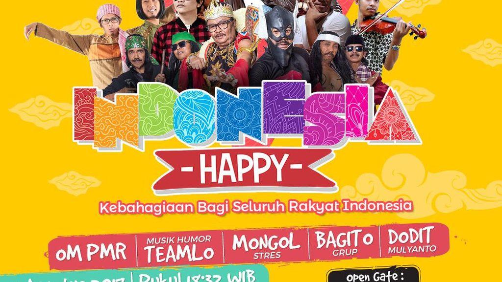 Malam Ini, Ayo Seru-seruan Bareng di Indonesia Happy