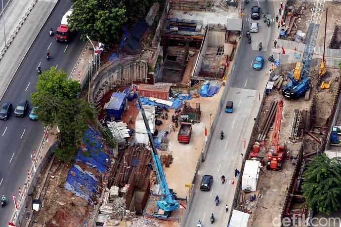Foto : Pembangunan MRT Dukuh Atas Terus Digenjot