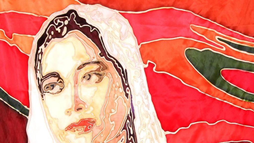 Fatmawati hingga Cut Meutia Dilukis dengan Teknik Gutha Tamarin