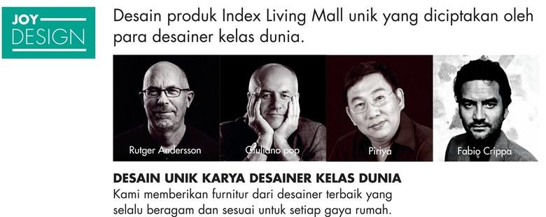 Furnitur Karya Desainer Kelas Dunia Ada di Index Living Mall Jakarta