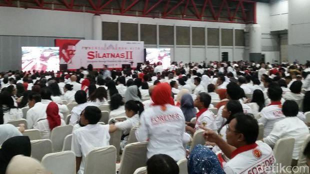 Pendukung Jokowi di Silatnas II: Dua Periode!
