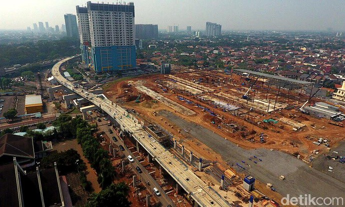 Foto : Pembangunan Depo MRT Lebak Bulus Capai 56%