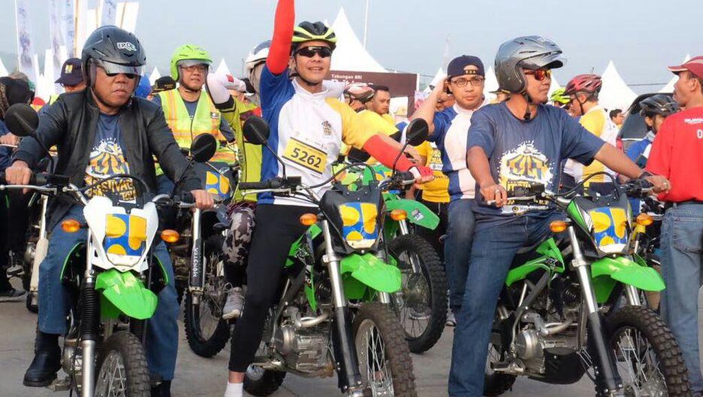 Menteri PUPR Ngetrail di Tol Bawen-Salatiga