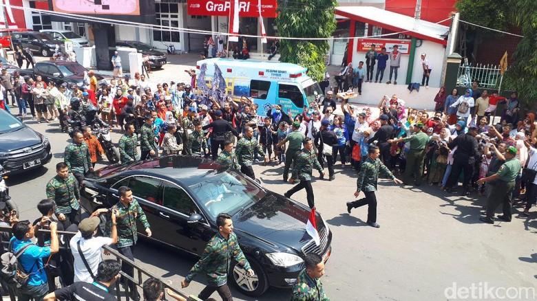 Jokowi Tiba di Jember Fashion Carnaval (Afif/detikTravel)