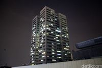 Gedung Nusantara I DPR yang disebut-sebut miring 7 derajat