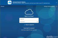 Gambar 2: Layar login iCloud yang bisa diakses dari peramban internet