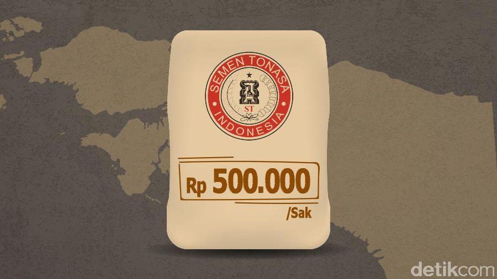 Era Jokowi Semen di Papua Rp 500 Ribu/Sak, Dulu Rp 2 Juta/Sak