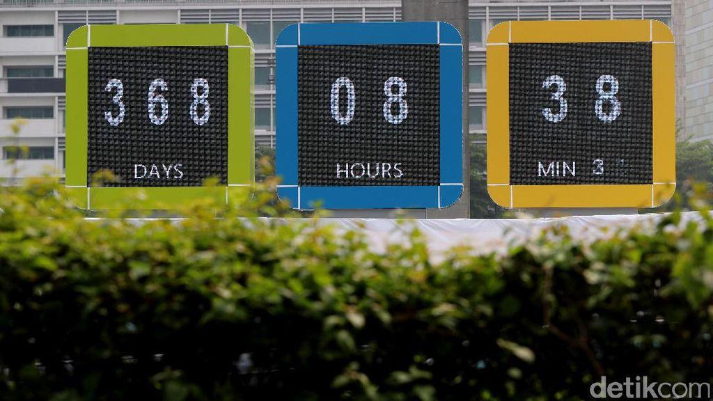 Layar Hitung Mundur Asian Games Eksis di Bundaran HI