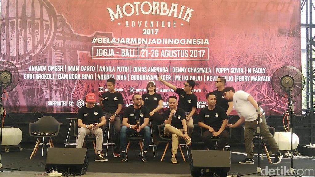 Bawa Misi, Selebriti Indonesia Siap Touring Yogyakarta-Bali