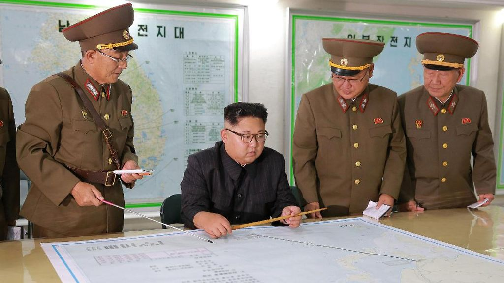 Mengintip Peta Rencana Serangan Rudal Korut ke Guam