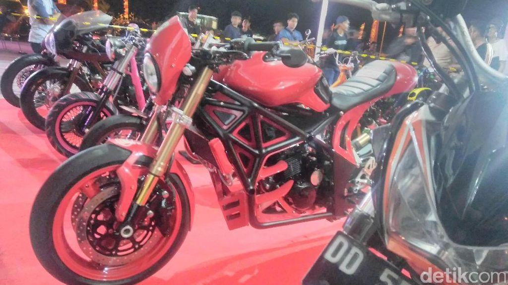 Ratusan Motor Ikuti Honda Modification Contest Makassar