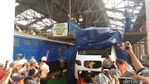 Hore! Kereta Bandara Soekarno-Hatta Tiba di Stasiun Manggarai