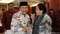 Potret Kemesraan Habibie dan Megawati