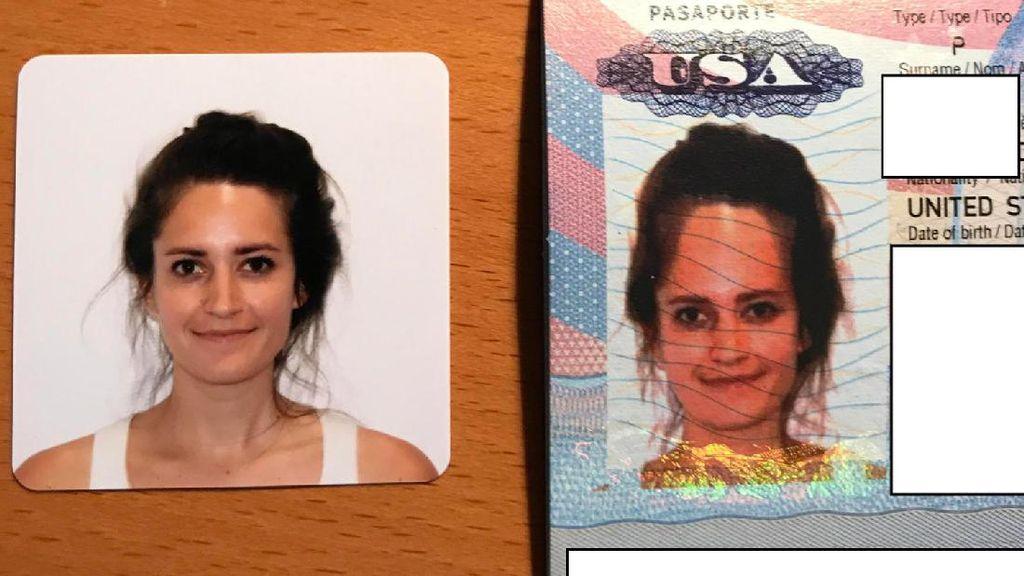 Foto Paspor Wanita Ini, Kepalanya Kok Aneh?