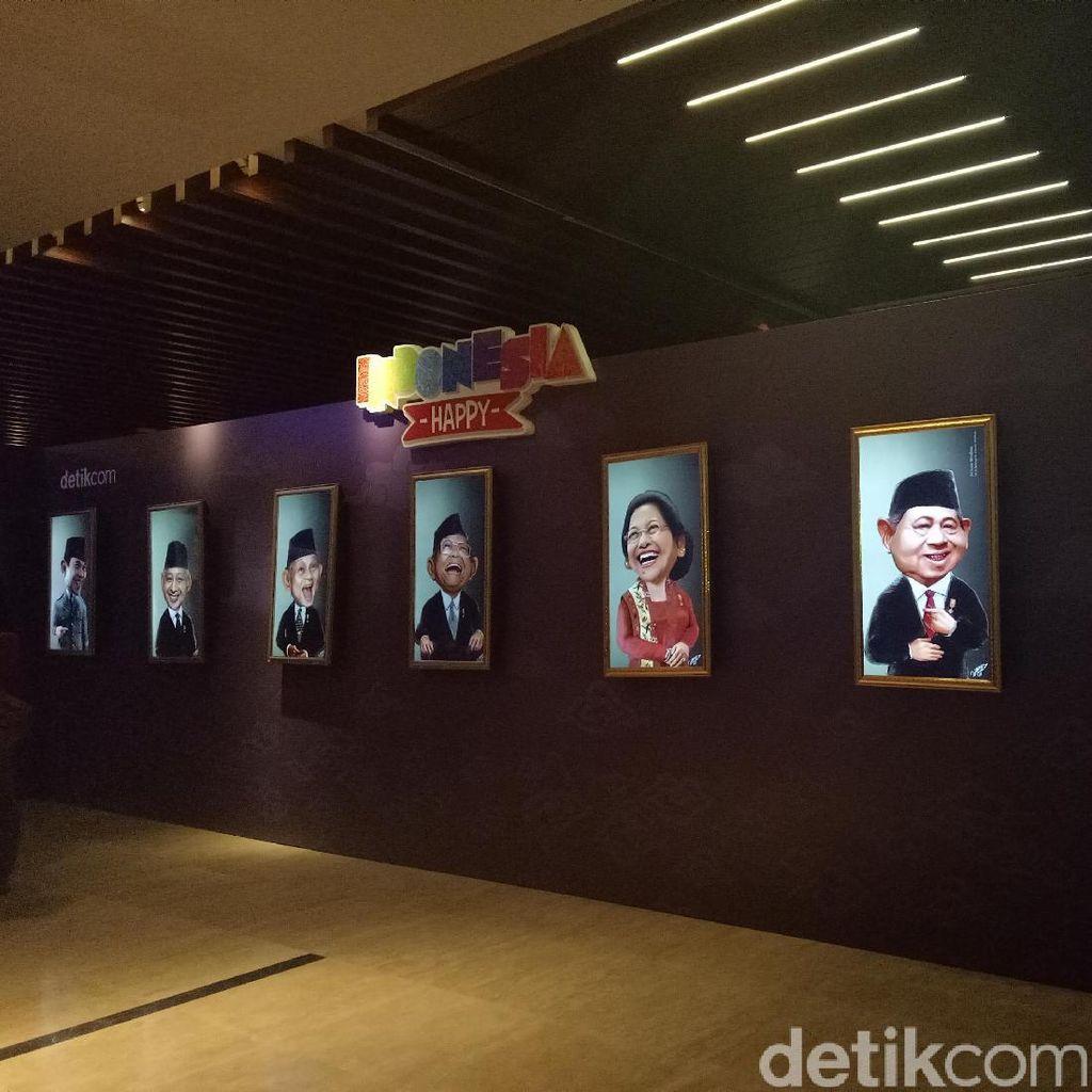 18 Lukisan Bergerak Pahlawan dan Komedian Indonesia di Indonesia Happy