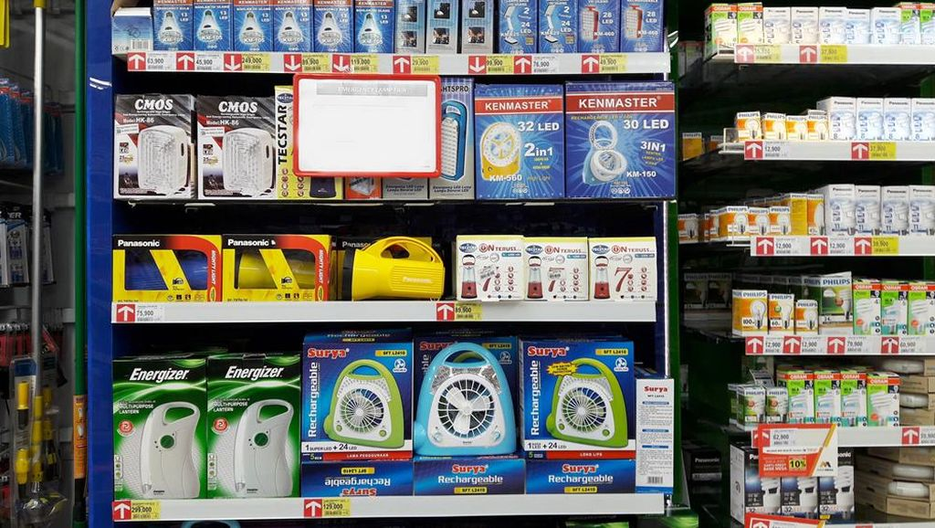 Transmart Carrefour Gelar Promo Lampu Emergency Sampai Bohlam