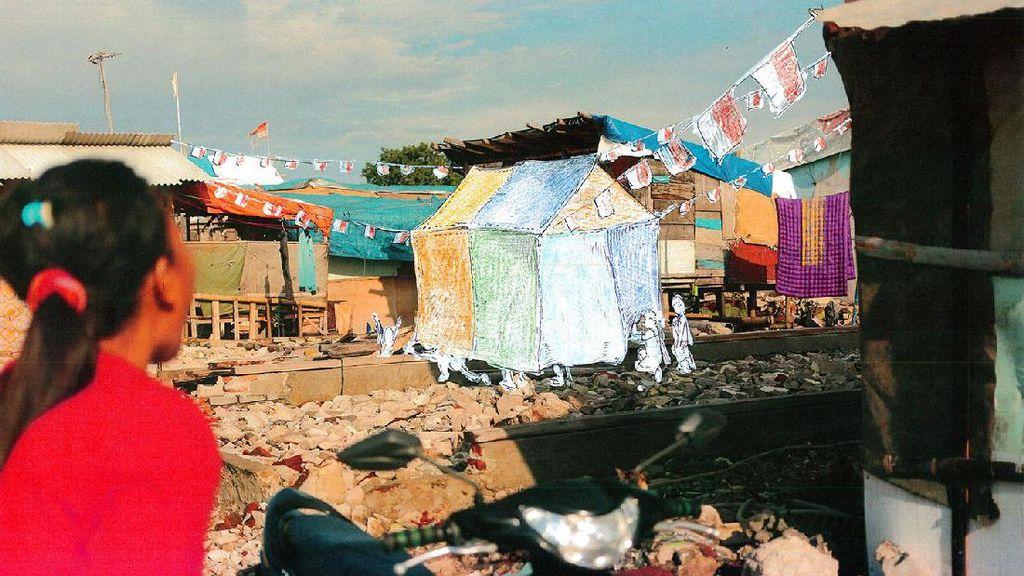 Rayakan 17 Agustus, Seniman Jepang Gelar Proyek Seni di Kampung Aquarium