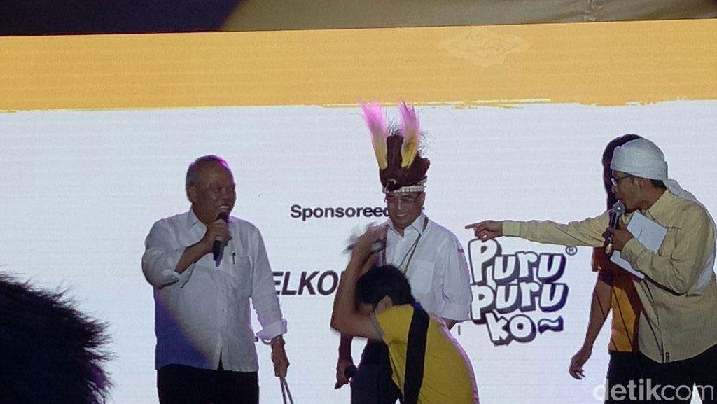 Keren! Menteri Basuki-Budi Ngeband Bento di Indonesia Happy