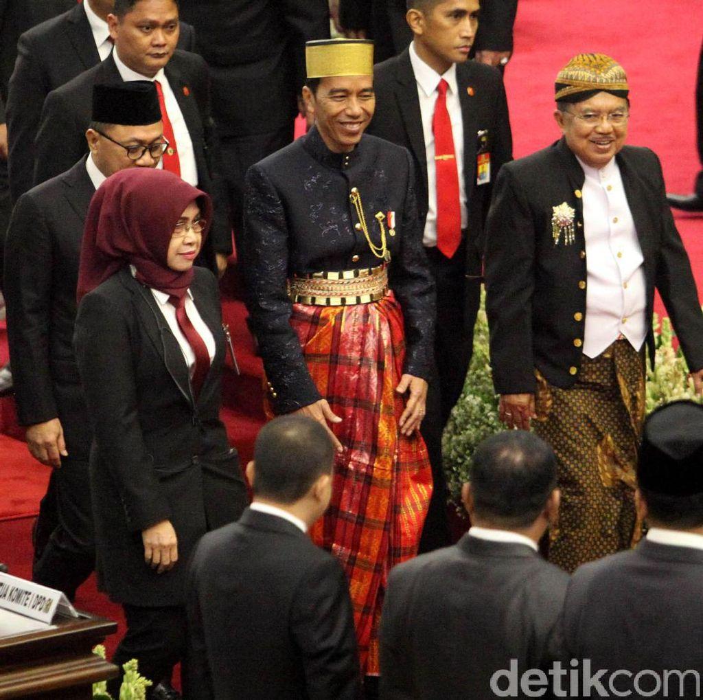 Foto: Kompak, Jokowi-JK Berbaju Adat di Sidang Tahunan