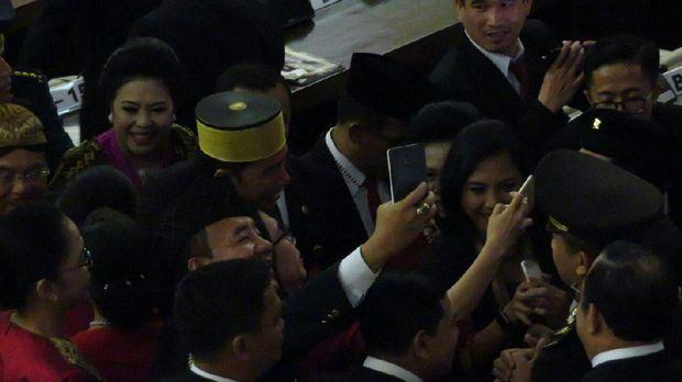 Jokowi di Sidang tahunan MPR-DPR-DPD.