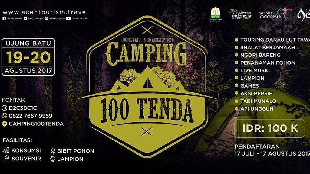 Pecinta Alam? Aceh Adakan Camping 100 Tenda di Dataran Tinggi Gayo