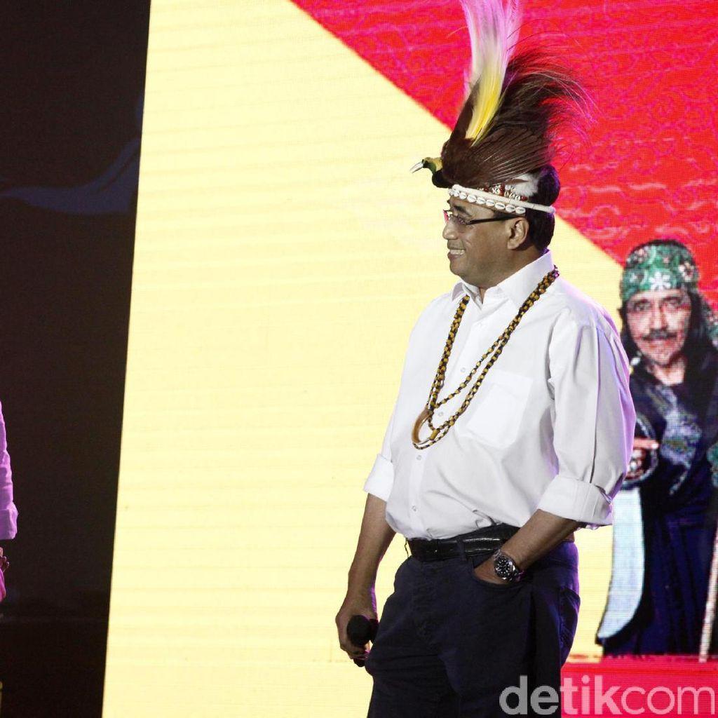 Serunya Aksi Basuki dan Budi Karya di Indonesia Happy