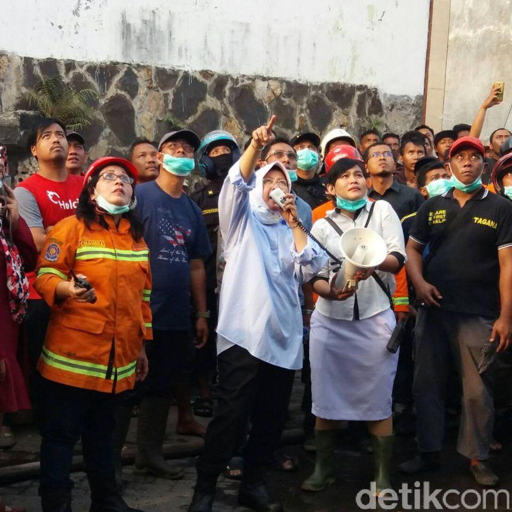 Wali Kota Risma Pantau Kebakaran di Kapas Madya