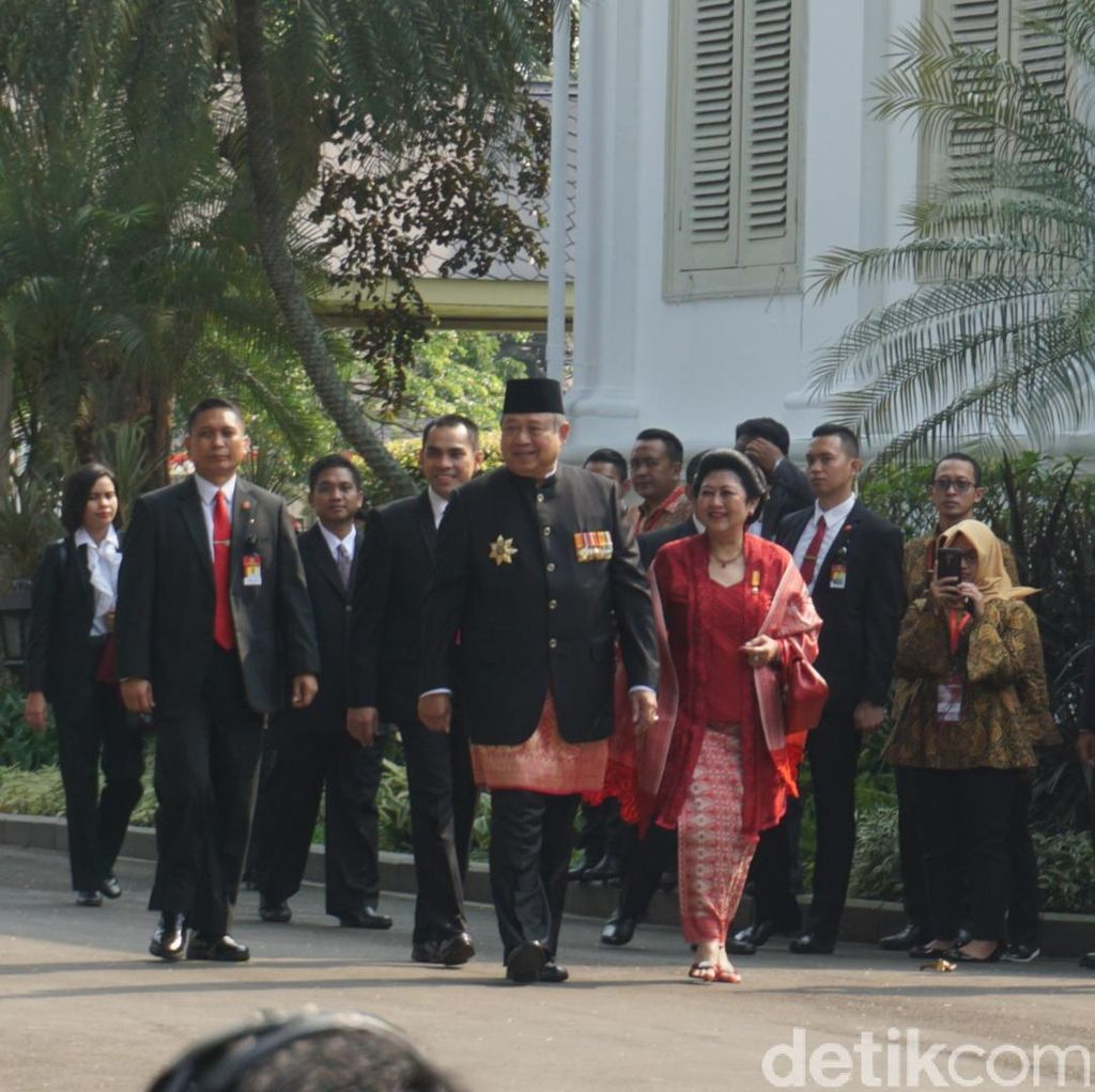 Datang Semua! Habibie-Megawati-SBY Ikut Upacara HUT RI di Istana