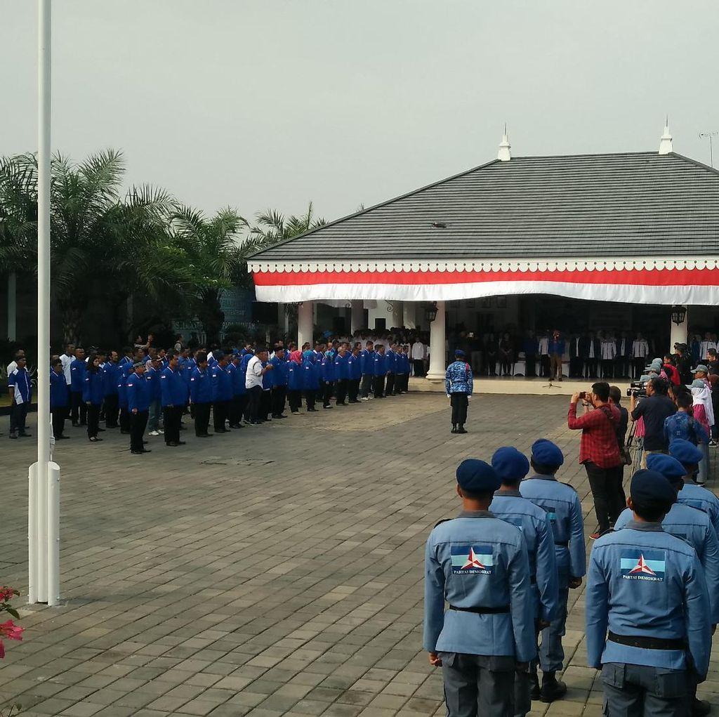 Tanpa SBY, Partai Demokrat Upacara HUT RI ke-72 di Cikeas