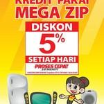 Tambahan Diskon 5% Megazip di Transmart dan Carrefour