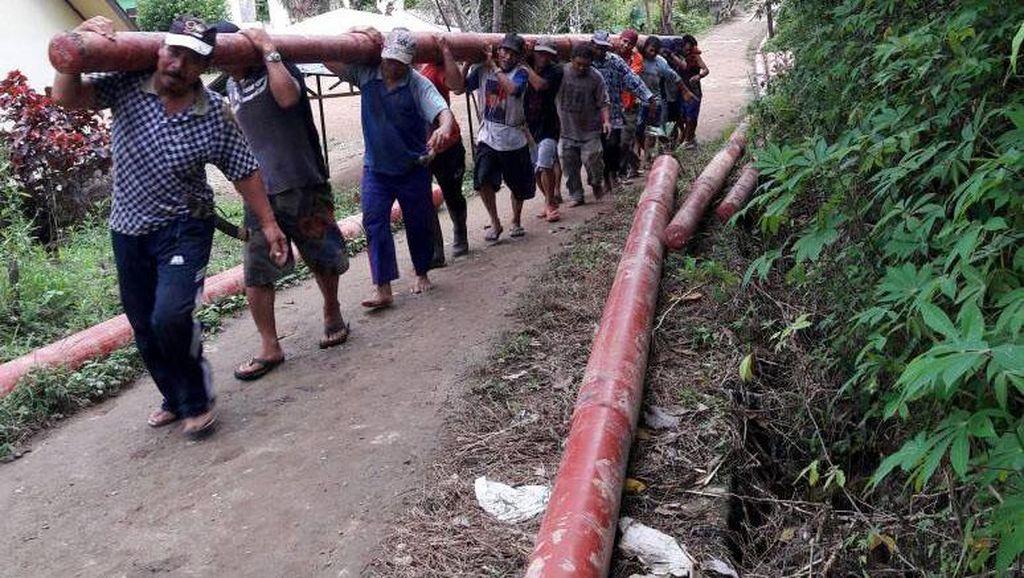 53 Desa di Kalimantan Kini Terang Benderang