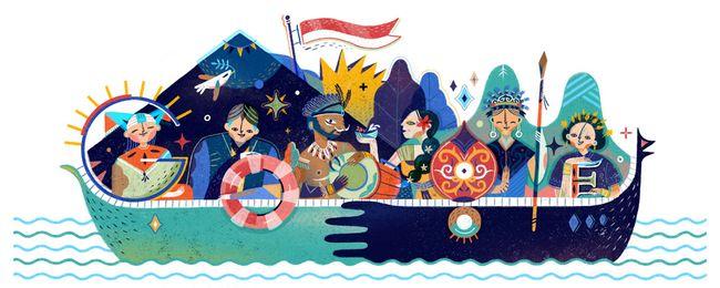 Google Sajikan Doodle Khusus Perayaan HUT RI ke-72