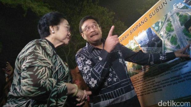 Megawati dan Djarot Dalam Peresmian Simpang Susun Semanggi