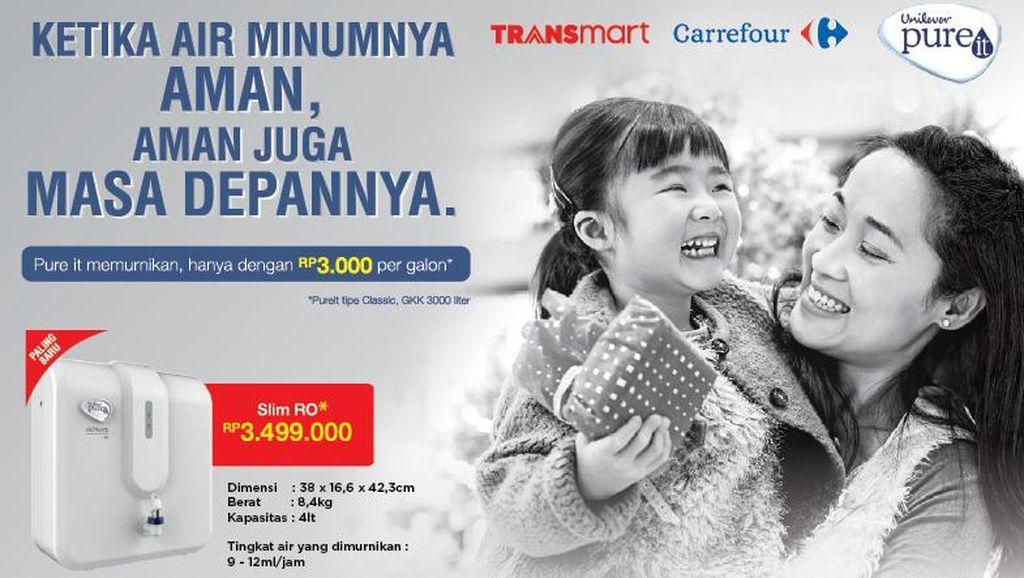 Transmart Carrefour Gelar Promo dari Unilever Pure It