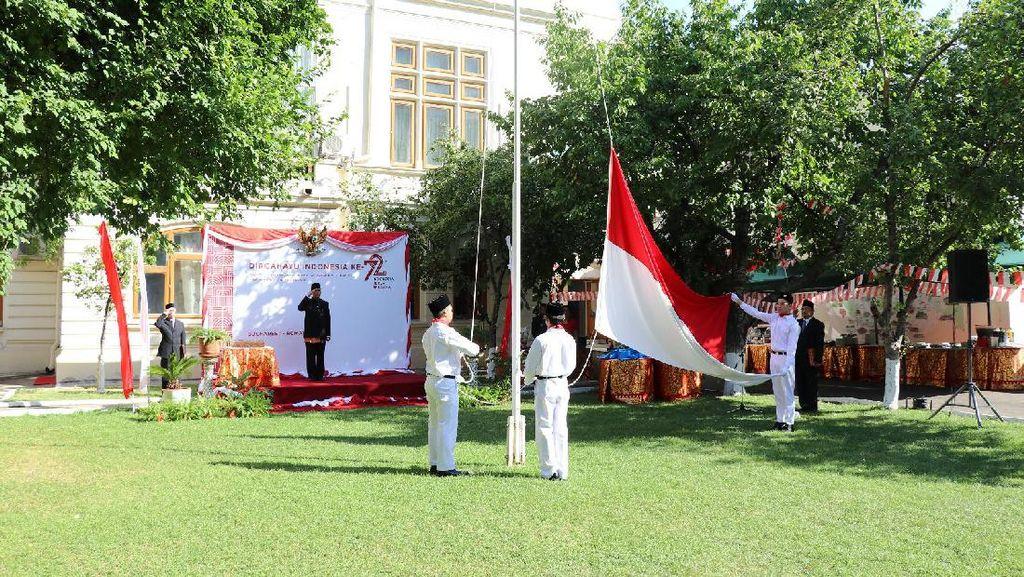 Perayaan Kemerdekaan Indonesia yang Sederhana dan Khidmat di Rumania