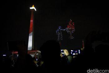 Megahnya Pesta Countdown Asian Games di Jakarta