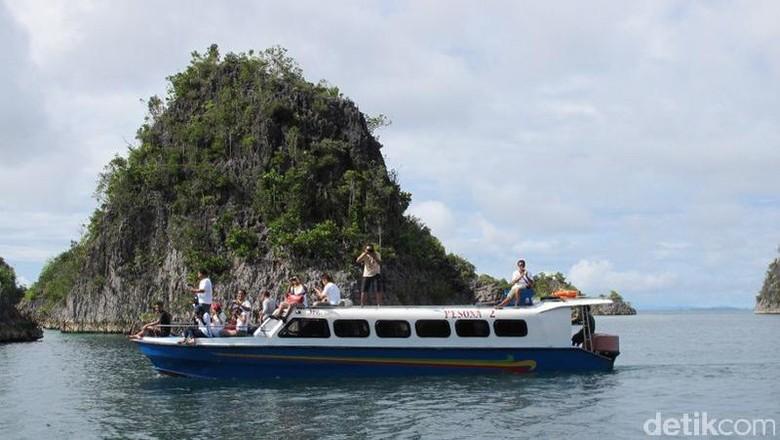 Foto: Boat di Raja Ampat (Afif Farhan/detikTravel)