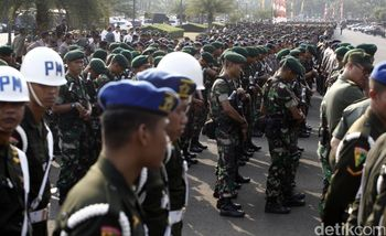 Personel Gabungan TNI-Polri Siap Amankan Countdown Asian Games